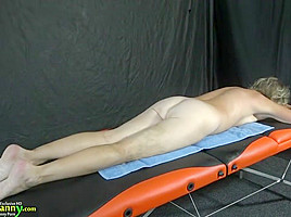OldNanny Mature gets fucked on massage table