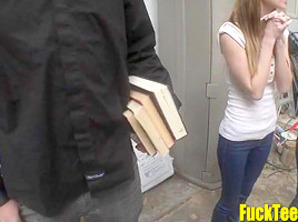 Cute Teen Fuck Teem Find a College Cock to Suck