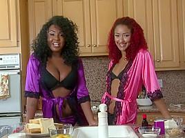 Hottest pornstars Daisy Ducati and Layton Benton in best lesbian, big butt porn movie