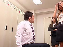 Hottest Japanese chick Mika Nakagawa, Sena Ayumu, Itsuki Kitagawa, Anzu Mukai in Fabulous femdom, changing room JAV clip