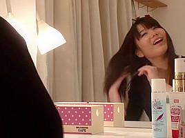 Exotic Japanese chick Hitomi Honjou, Jun Mamiya in Amazing handjobs, close-up JAV video