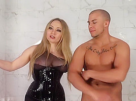 Incredible pornstars Aiden Starr and Amber Rayne in horny femdom, hd xxx clip