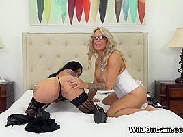 Alyssa Lynn & Lily Lane in Busty Tattooed Lesbians - WildOnCam