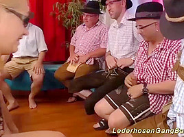 wild german swinger gangbang party
