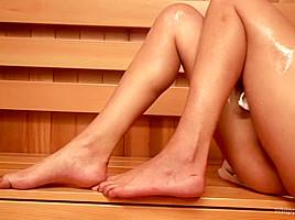 Sweaty Sadistic Lesbian Sauna