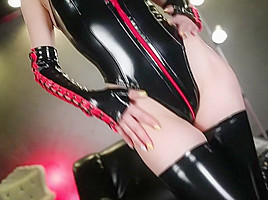 Best Japanese chick Akiho Yoshizawa in Horny doggy style, latex JAV video