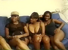 Horny Ebony Chicks In Sexy Clothes Having Fun At Home
