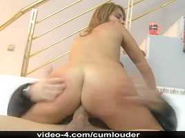 Redhead Pippi screwed by a massive pecker
