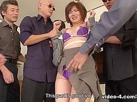 Kaede Oshiro in Kaede Oshiro has to repay her husband's debt - AviDolz