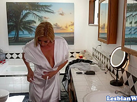 Bigtitted stepmom ###ly pussylicked by gal