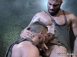 Landon Conrad & Alex Marte in Militia, Scene #02