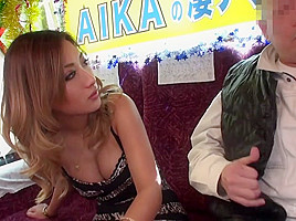 Aika in Aika takes an old man for a ride on the fuck bus - EritoAvStars