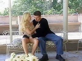 Cute Blonde Babe Gets Gangbanged