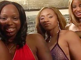 Five Hot Black Chicks, One Big Orgy