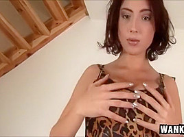 Round Butt Babe Stracy Stone Massaging Her Pink Pussy
