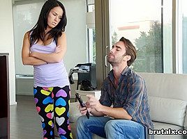 Megan Rain & Logan in Step-Siblings Fight And Fuck - BrutalX