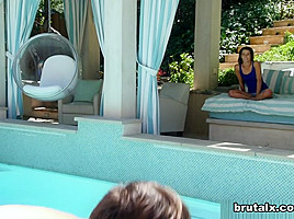 Logan & Alaina Kristar in Brute-Fucked By A Pool Boy - BrutalX