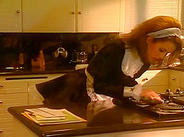 Sexy Maid Inari Vachs Gets On Her Knees For Tom Byron