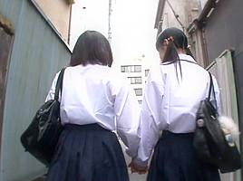 Asami Tsuchiya & Karen Haruki in Lesbian Bondage In The Rooftop - JapansTiniest