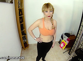 Lucia Fernandez & Terry in Busty Sexy slut doing a porn sport tutorial  - MMM100