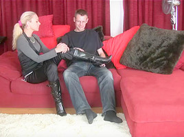 footjob socks-