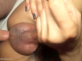 Ladyboy And Gets Hairy Cock Into Ass