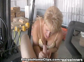 Cum Blasted On The Tractor-