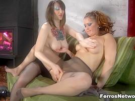 Pantyhose1 Clip: Clara and Megan
