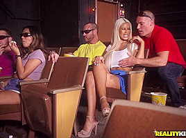 Bridgette B  Sean Lawless in Sneaky At The Movies - SneakySex
