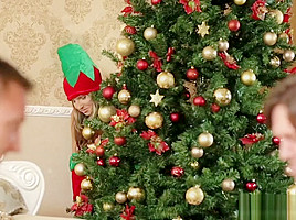 Gina Gerson - Skinny Teen Gina Gerson Gets DP For Christmas