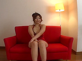 Naho Hazuki plays submissive and gets masturbated