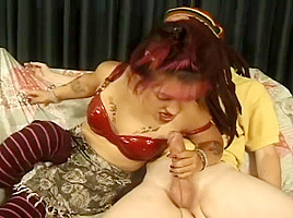 Bridget Powers Sucks Large Cock