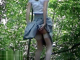 Russian pissing outdoor-