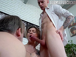 Some Old-Ass Dude On A Leash Is Going To Be Lora's Cuckold Today - SubmissiveCuckolds