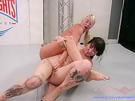 Beautiful Blond MILF Takes on Hot Goth Chick. Winner fucks Loser - KINK