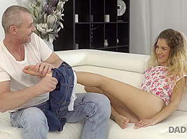 DADDY4K. Monique Woods manages to fuck BF's mature father when he is at gym
