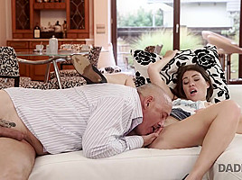 DADDY4K. Teen Tiffany Doll gives blowjob to mature man because her BF loves cars