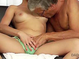 DADDY4K. Teen Victoria has a crush on her boyfriends mature father