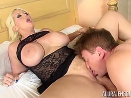 Alura Jenson is a blonde slut who loves sex