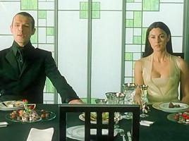 Carrie Anne Moss,Monica Bellucci in The Matrix Reloaded (2003)