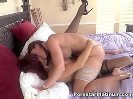 Sexy Vanessa in Lesbian Lust with Janet Mason