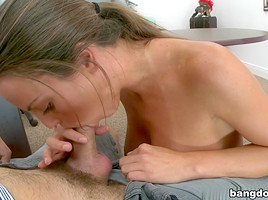 Big tit girl has a tight pussy