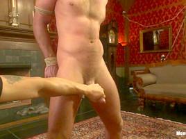 Porn superstar Jessie Colter gets bound gagged and edged until he begs to cum