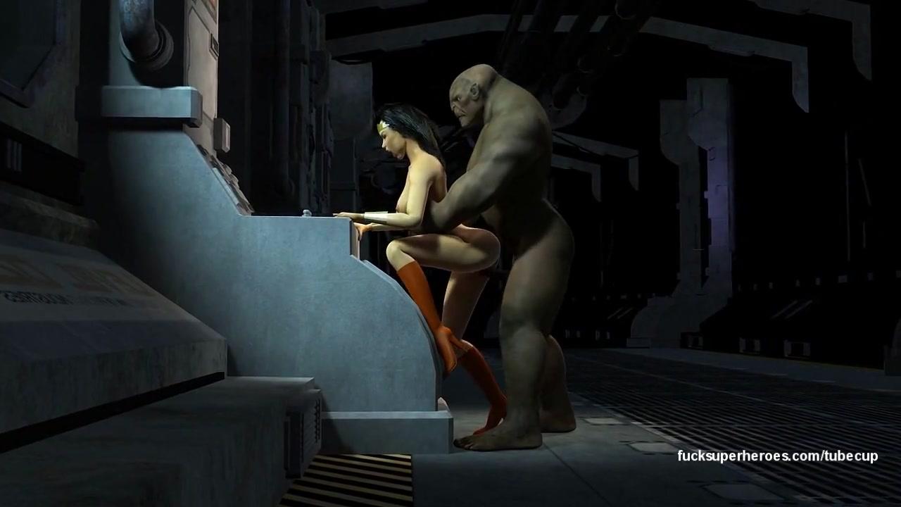Wonderwoman Fucks Huge Troll Dick Lesbo Couple taste cock