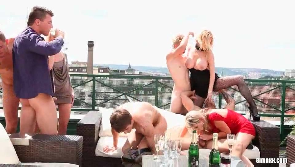Bisexual orgy on the roof top Www fat tube com upskirt