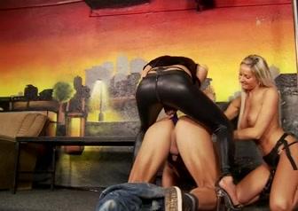 Strapon club girls in cruel bondage stories