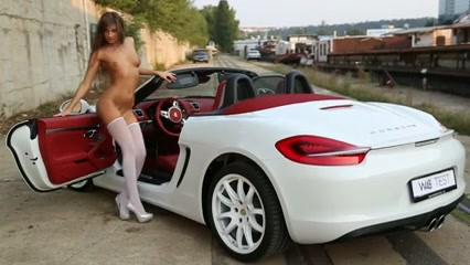 Russian Legal Age Teenager Masha - Cars Photosession Discreet adult shopping