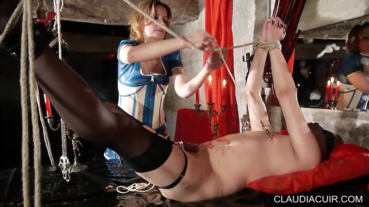 Mature dominatrix fucks her sissy thrall in HD Business women pantyhose and high heels