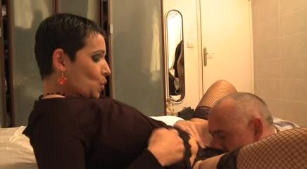 European brunette MILF enjoys a cock up her hot pussy Ebony girls in panties
