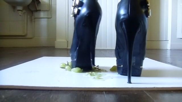 crush high heel boot,grape raisin! Hot milf mov